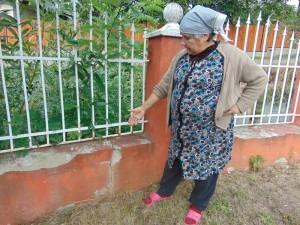 Veronica Vancea crede ca gardul ei crapa din cauza masinilor cu piatra