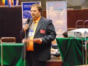 Adrian Dan Pop, în sala Parlamentului European