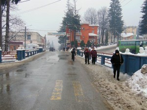 Centrul oraşului Cavnic