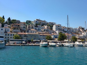 Portul Skiathos - oraşul vechi
