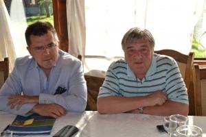 Prof. Dan Dungagiu şi Gheorghe Pârja