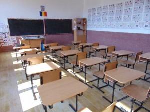 Sală de clasă a şcolii din Deseşti