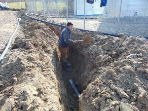 Lucrări la reţeaua de alimentare cu apă