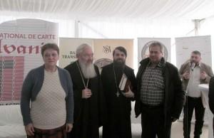 Cornelia Peterliceanu, ÎPSAndrei, Părintele Benedict şi Alexandru Peterliceanu (directorul Editurii Proema)