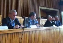Subprefectul Gavriş Ardelean, prefectul Sebastian Lupuţ, Ioan Ştrempel şi Alexandru Cosma