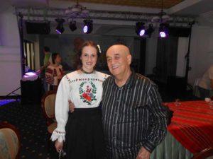 Gabriela alături de Benone Sinulescu