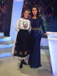 Gabriela alături de Iuliana Tudor