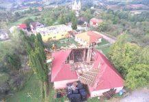Imobile distruse de furtună în Boiu Mare