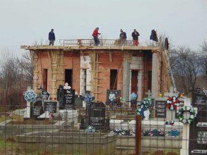 Capela din Bârgău, ridicată aproape în totalitate