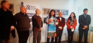 Foto: Vasile Timur Chiş, Peter Lenghel, Felix Săteanu, Mariana Scubli, Ştefan Toth, Adela Pop şi primarul Horia Scubli