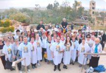 Botez simbolic în apa Iordanului săvârşit de părintele Antal