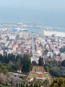 Panoramă a oraşului Haifa