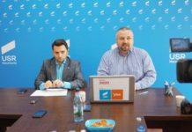 Vlad Duruş, deputat USR, şi Dan Ivan, preşedinte USR Maramureş