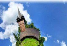 Panosferă cu Biserica Sfinţii Arhangheli din Răzoare. Foto: Marin Giurgiu