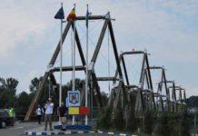Podul peste Tisa - trecerea frontierei de stat