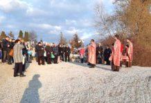 Momentul Sfințirii Cimitirului nou greco-catolic