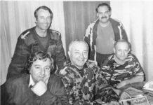 1999 • La Zenica: jurnalistul Gheorghe Pârja, colonelul Augustin Moldovan şi colaboratorii săi