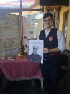 Evenimentul a fost marcat și la liceul din Sighetu Marmației. În fotografie, elevul Sebastian Lihet, protagonistul uneia dintre activități