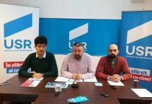 Vladimir Marian, Dan Ivan - preşedinte filiala Maramureş şi Dragoş Moldovan - vicepreşedinte USR Baia Mare