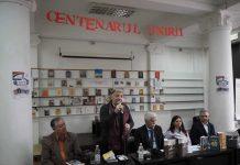 La Biblioteca B. P. Haşdeu: Teodor Ardelean, Gheorghe Pârja, Vasile Şoimaru, Mariana Hârjevschi, dr. Mihai Taşcă