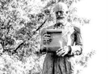 Statuia lui George Pop de Băseşti, din Baia Mare (autor Ioan Marchiş)
