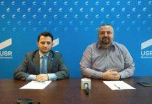 Deputatul Vlad Duruş şi Dan Ivan - preşedinte USR Maramureş