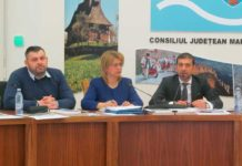 George Moldovan - vicepreşedinte CJ, Aurica Todoran - secretar CJ, Gabriel Zetea - preşedinte CJ