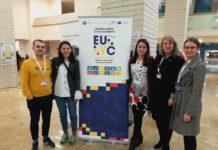 Daniel Orza, Mădălina Tămaş, Bianca Tătar, Alina Pop şi Ioana Grad, la Conferinţa de Tineret a EU