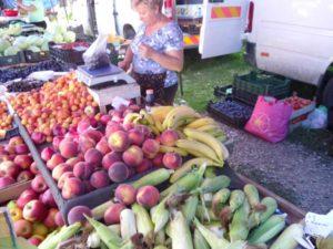 Maria Lazar la taraba din piaţă