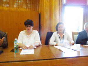 Juristul SLIMM, Mariana Nuszer şi preşedintele SLIMM, Ioana Petreuş