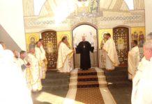 Primirea P Sale Florentin Crihălmeanu la biserică